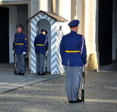 Guard at Prague Castle. Special ceremony during the changing of the guards  in Prague, Czech Republic Stock Photography
