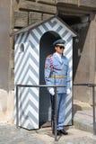 Guard at Prague Castle stock photos