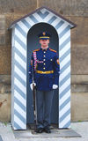 Guard - Prague Castle Stock Image