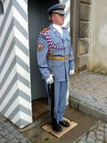 Guard, Prague Castle Stock Photo