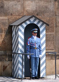 Guard at Prague Castle Stock Photos