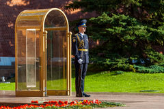 Guard of the Presidential regiment of Russia near Tomb of Unknown soldier. MOSCOW, RUSSIA - SEPTEMBER 02, 2016: Guard of the Presidential regiment of Russia near Stock Images