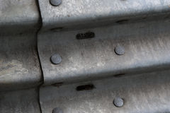 Guard rail rivets Royalty Free Stock Photos