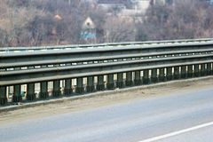 Guard rails on a motorway.  royalty free stock photos