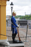 Guard at Royal Armoury in Stockholm, Sweden Royalty Free Stock Photos