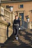 Guard at Royal Castle, Stockholm Stock Images