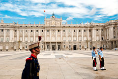 Guard of Royal Palace of Madrid Royalty Free Stock Photos