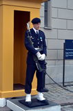 The guard at the Royal Palace in Stockholm Royalty Free Stock Photography