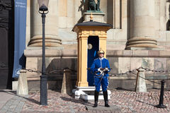 The guard at the Royal Palace in Stockholm, Sweden Royalty Free Stock Photography