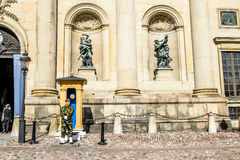 The guard at the Royal Palace in Stockholm. Sweden Stock Images
