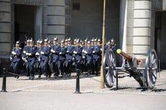 Guard running Stock Image