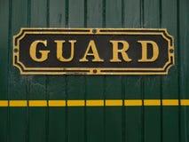 Guard sign Royalty Free Stock Photos