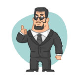 Guard smiles and showing thumbs up. Illustration, guard smiles and showing thumbs up, format EPS 8 Royalty Free Stock Images