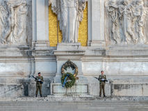 Guard soldiers at Monument Nazional a Vittorio Emanuele II Royalty Free Stock Photo