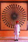 Guard standing at Diwan-i-Khas - Hall of Private Audience Royalty Free Stock Photo