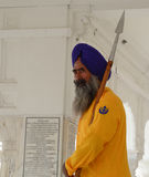 A guard standing at Golden temple in Amritsar, India Stock Photos