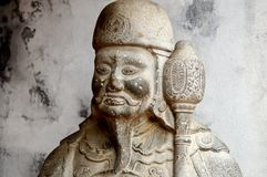 Guard statue at the Temple of Literature in Hanoi, Vietnam royalty free stock photos