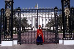 A guard stood outside of the Presidential Palace, Dakar Stock Images