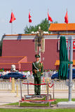 Guard on the Tiananmen square in Beijing Royalty Free Stock Photography