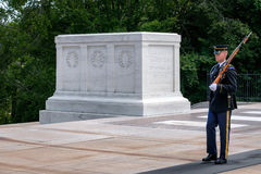 Guard at the Tomb of the Unknown  at Arlington National Cemetery Royalty Free Stock Image