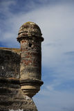 Guard Tower. Old guard tower in the Castillo de San Marcos, St. Augustine, Florida Stock Image