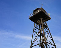 Guard Tower. A look up at a guard tower Stock Image