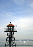 Guard Tower. Overlooking bay stock photo
