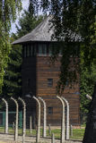 Guard tower in Auschwitz I extermination camp Royalty Free Stock Photo