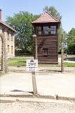 Guard tower Auschwitz, Poland Stock Photos