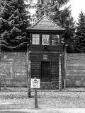 Guard tower in black and white Stock Photos