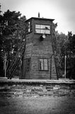 Guard tower in concentration camp Stutthof Stock Image