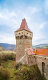 Guard tower at the Corvinilor Castle in Hunedoara Romania Stock Photo