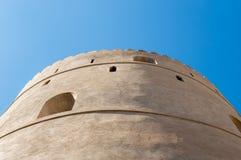 Guard tower of desert fort. Shot upwards Stock Photos