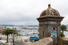 Guard tower in Ferrol, Galicia, Spain Stock Photography