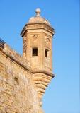 The Guard tower the Gardjola of the Singlea bastion. Malta. Royalty Free Stock Photography