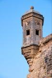 The Guard tower the Gardjola of the Singlea bastion. Malta. Stock Photo