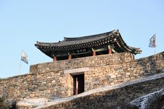A Guard Tower of Gongju Castle Stock Photography