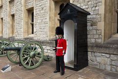 Guard at the Tower of London Royalty Free Stock Photography