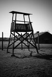 Guard tower outside Birkenau Concentration Camp, Poland Stock Photography