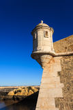 Guard tower ramparts of Portuguese fort Royalty Free Stock Photo