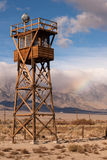 Guard Tower Searchlight Manzanar National Historic Site California Royalty Free Stock Image