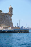 The Guard tower on the tip of the  Singlea bastion. Malta. Royalty Free Stock Photography