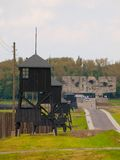 Guard towers in Majdanek concentration camp Royalty Free Stock Photography