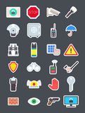 Guard  vector icons set. Set of 24 Guard  vector icons Royalty Free Stock Photo
