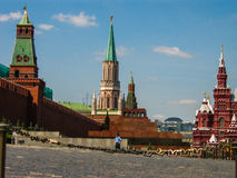 Guard watching the Red Square Stock Images