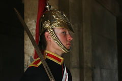 Guard at Whitehall, London Stock Image