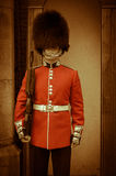 A Guard with Yellow Tone Added Royalty Free Stock Image