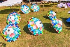 Guarda-chuva asiático do estilo Imagens de Stock Royalty Free