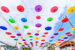 Guarda-chuva asiático do estilo Imagem de Stock Royalty Free