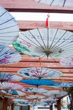 Guarda-chuva chinês antigo fotografia de stock